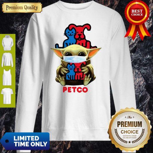Star Wars Baby Yoda Mask Hug Petco COVID-19 Sweatshirt