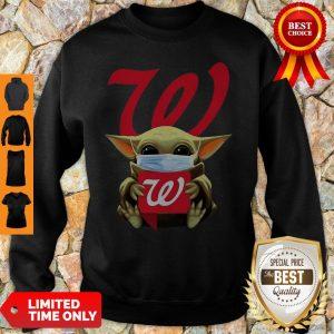 Star Wars Baby Yoda Mask Hug Walgreens COVID-19 Sweatshirt
