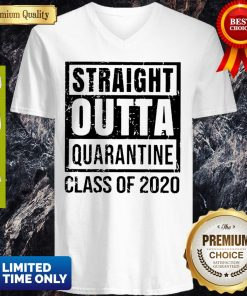 Straight Outta Quarantine Class Of 2020 V-neck