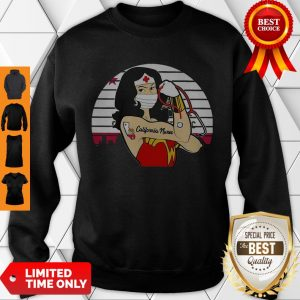 Good Strong Wonder Woman Tattoo California Nurse Coronavirus Sweatshirt