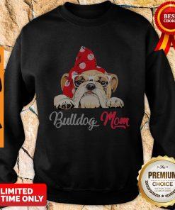Premium Bulldog Cute Wear Glasses Dog Mom Sweatshirt