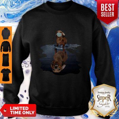 Good Dachshund Face Mask Water Reflection Dachshund Sweatshirt