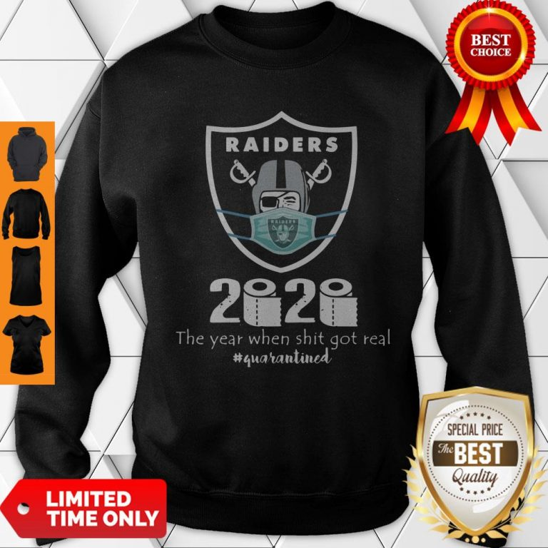 Awesome Mask Raiders 2020 The Year When Shit Got Real Sweatshirt