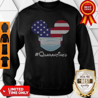 Awesome Mickey American Flag Face Mask Quarantined Sweatshirt