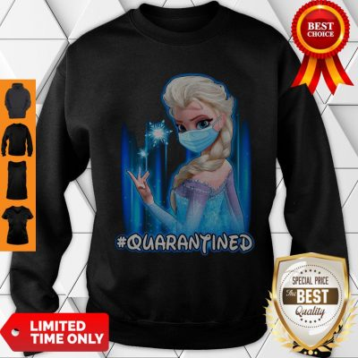 Top Mask Princess Elsa Quarantined Sweatshirt