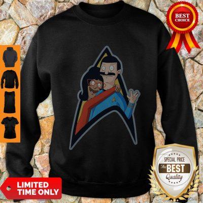 Good Star Trek Bob Burgers And Linda Belcher Sweatshirt