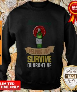 Official Tanqueray Helping Me Survive Quarantine Sweatshirt
