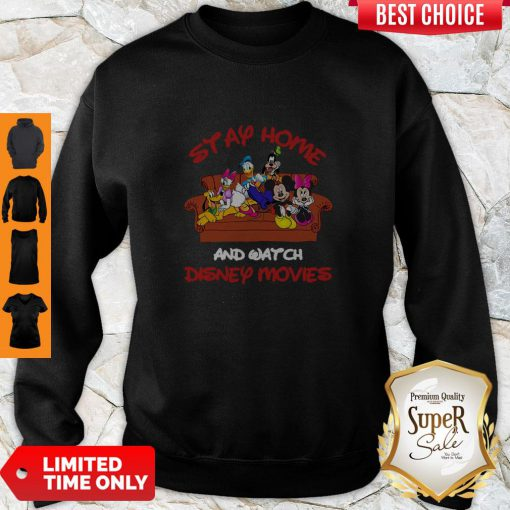 Mickey And Friends Stay Home And Watch Disney Movie Sweatshirt