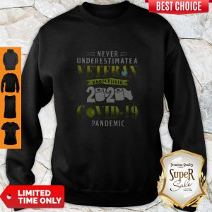 Never Underestimate A Veteran Who Survived 2020 Covid-19 Pandemic Sweatshirt