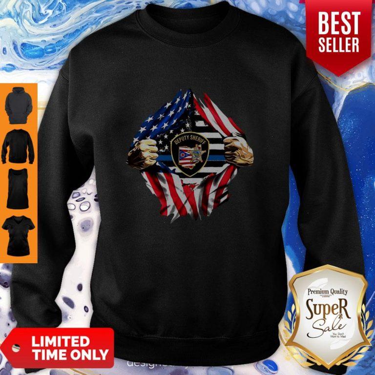 Official Deputy Sheriff Ohio Badge American Flag Sweatshirt