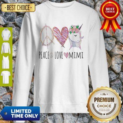 Official Peace Love Mimi Unicorn Sweatshirt