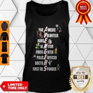 Nice Covid-19 Avengers Paramedic Volunteer Nurse Janitor Firefighter Tank Top