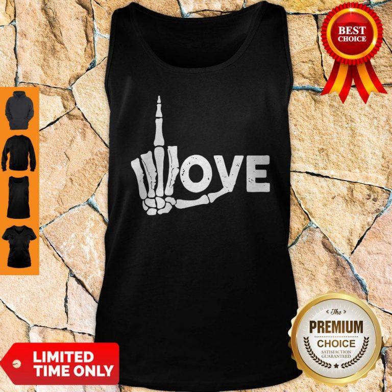 Premium Skeleton Fuck Love Tank Top