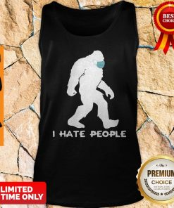 Awesome Bigfoot Mask I Hate People Tank Top