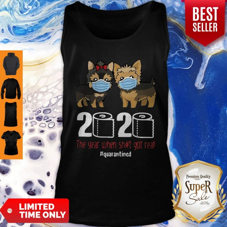Premium Dogaholic Face Masks Toilet Paper 2020 The Year When Shit Got Real Quarantined Tank Top