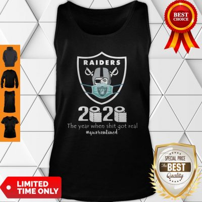 Awesome Mask Raiders 2020 The Year When Shit Got Real Tank Top