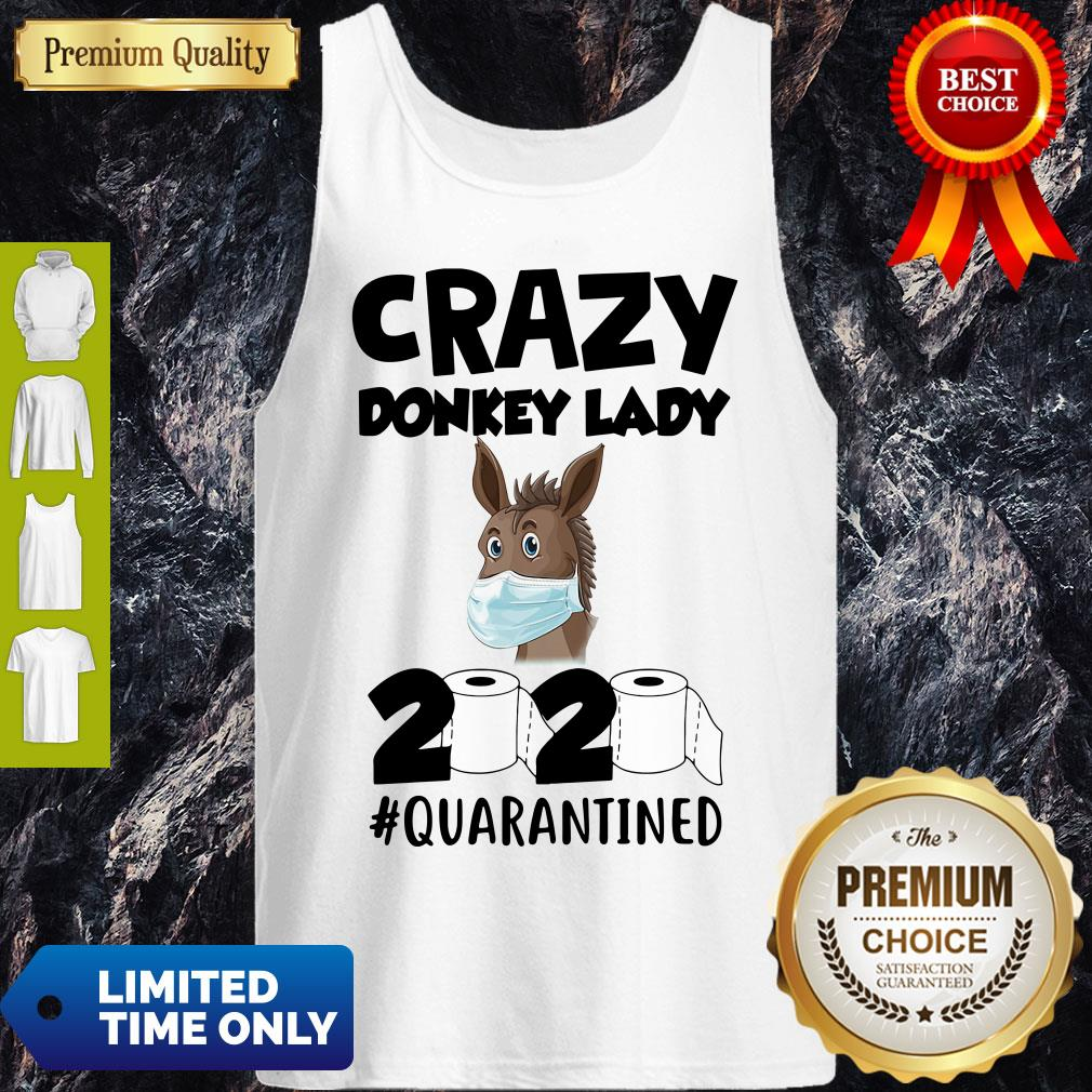 Nice Crazy Donkey Lady 2020 Quarantined Covid-19 Tank Top