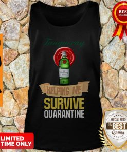 Official Tanqueray Helping Me Survive Quarantine Tank Top