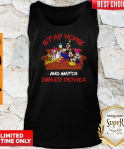 Mickey And Friends Stay Home And Watch Disney Movie Tank Top