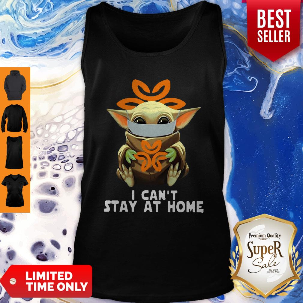 Awesome Baby Yoda Mask USPS I Can't Stay At Home Coronavirus Tank Top