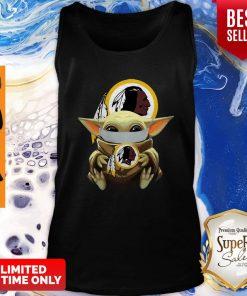 Top Star Wars Baby Yoda Face Mask Washington Redskins Tank Top