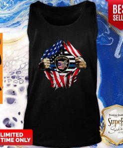 Official Deputy Sheriff Ohio Badge American Flag Tank Top