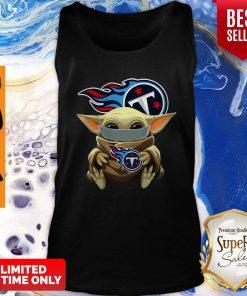 Good Star Wars Baby Yoda Face Mask Hug Tennessee Titans Tank Top
