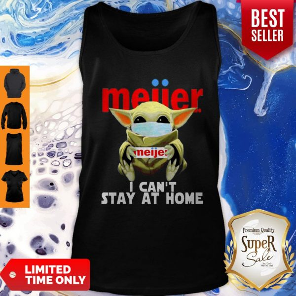 Top Baby Yoda Mask Meijer I Can't Stay At Home Coronavirus Tank Top