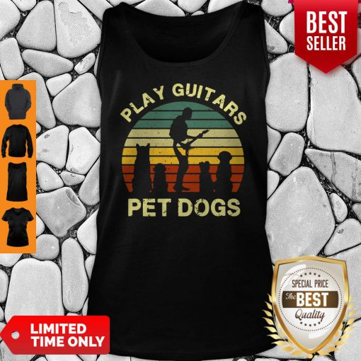 Top Play Guitars Player Pet Dogs Funny Gift For Dog Lovers Tank Top