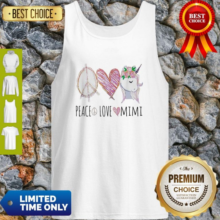 Official Peace Love Mimi Unicorn Tank Top