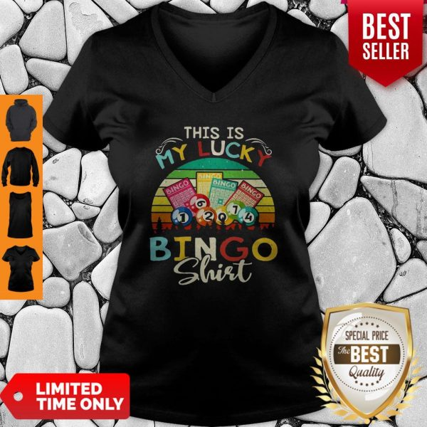 This Is My Lucky Bingo Vintage V-neck