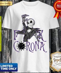 Top Jack Skellington Fuck Corona Shirt