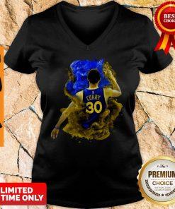Top NBA Stephen Curry 30 LeBron James V-neck
