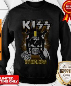 Top Skull Kiss Band Pittsburgh Steelers Sweatshirt