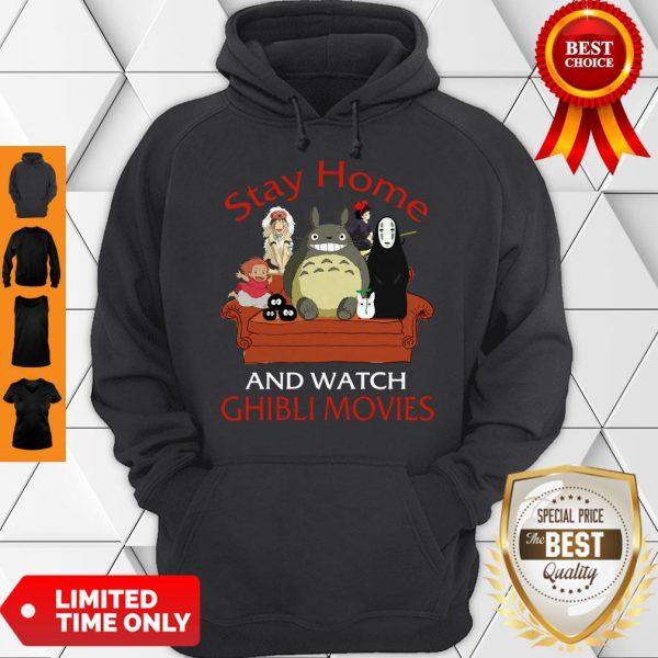 Top Totoro Mononoke Stay Home And Watch Ghibli Movies Hoodie