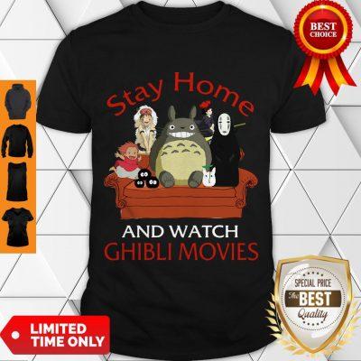 Top Totoro Mononoke Stay Home And Watch Ghibli Movies Shirt