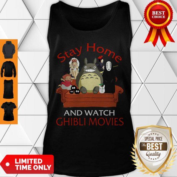 Top Totoro Mononoke Stay Home And Watch Ghibli Movies Tank Top