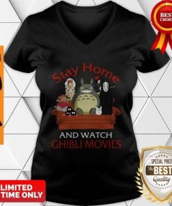 Top Totoro Mononoke Stay Home And Watch Ghibli Movies V-neck