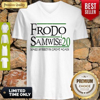 Top Frodo Samwise 2020 Make Hobbiton Great Again V-neck