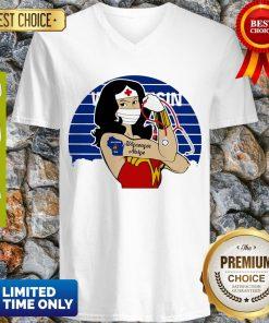 Good Wonder Woman Tattoos Wisconsin Nurse Covid-19 Vintage V-neck