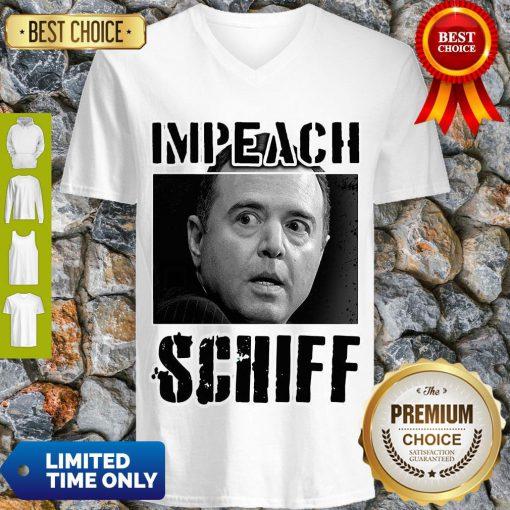 Impeach Adam Schiff Funny Pro Conservative Republican Gift V-neck