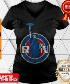 Nice Statue Of Liberty RN Registered Nurses V-neck