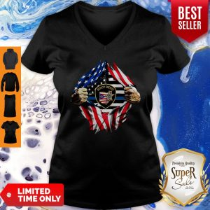 Official Deputy Sheriff Ohio Badge American Flag V-neck