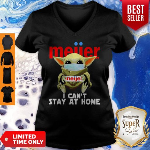 Top Baby Yoda Mask Meijer I Can't Stay At Home Coronavirus V-neck