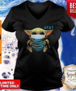 Awesome Baby Yoda Mask AT&T Coronavirus V-neck