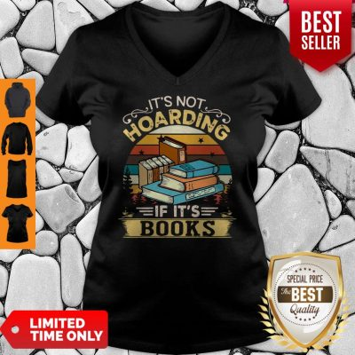 Premium It's Not Hoarding If It's Books V-neck