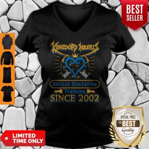 Awesome Kingdom Heart Social Distance Training Since 2002 V-neck
