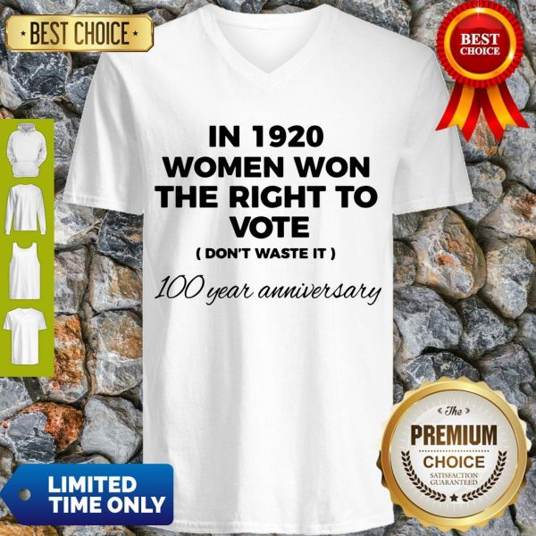 Womens In 1920 Women Won The Right To Vote Do Not Waste It V-neck