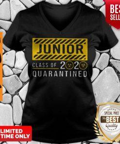 Funny Junior Class Of The Quarantined 2020 Sign V-neck