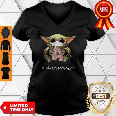 Good Baby Yoda Mask Ballet Shoes Quarantined Coronavirus V-neck